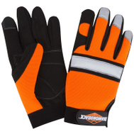 DiamondBack 5959L Gloves Mechanic Hi-Visblty Lrg
