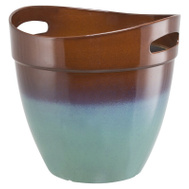 Landscapers Select PT-S039 Planter Rsn W/Hndl Teal 12In