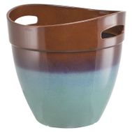 Landscapers Select PT-S040 Resin Planter With Handle Teal 15 Inch