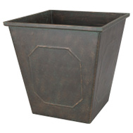 Landscapers Select PT-S046 Planter Rsn Sq Metallic 14In