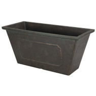 Landscapers Select PT-S049 Resin Planter Metallic 19 By 8 Inch