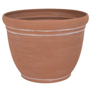 Landscapers Select PT-S058 Resin Planter Terra Cotta 13 Inch
