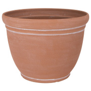Landscapers Select PT-S059 Resin Planter Terra Cotta 15 Inch
