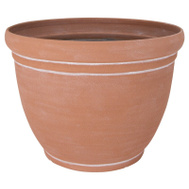 Landscapers Select PT-S060 Planter Rsn Terra Cotta 18In