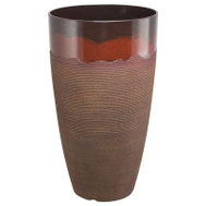 Landscapers Select PT-S065 Planter Resin Tall Rnd Red Wv