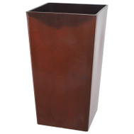 Landscapers Select PT-S066 Resin Planter Tall Square Red 12 Inch