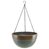 Landscapers Select PT-S074 Resin Hanging Planter Green & Blue 16 Inch