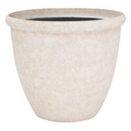 Landscapers Select PT-S010-B Resin Planter Oriental 14-3/4 Inch