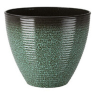 Landscapers Select PT-S007-B Resin Planter Wave 14-3/4 Inch