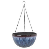 Landscapers Select PT-S074-B Resin Planter Hanging 15-3/4 Inch