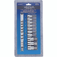 Vulcan TS1010M Socket Sets 10 Piece With Metric Hex Bits 3/8 Inch Drive And 1/2 Inch Drive