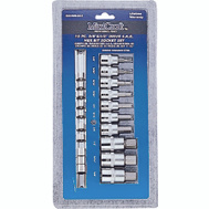 Vulcan TS1010S-P Socket Sets 10 Piece With Fractional Hex Bits 3/8 Inch Drive And 1/2 Inch Drive