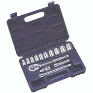 Vulcan TS1015 Socket Wrench Sets 15 Piece Fractional 3/8 Inch Maxi Drive