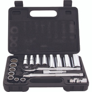 Vulcan TS1020 Socket Wrench Set Standard And Deep 20 Piece Fractional 3/8 Inch Maxi Drive