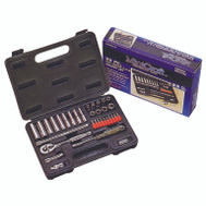 Vulcan TS1035 Socket Wrench Sets 35 Piece Fractional 1/4 Inch Maxi Drive