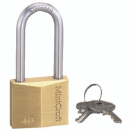 ProSource HD10042 1-1/2 Inch Solid Brass Padlock With A 2 Inch Shackle