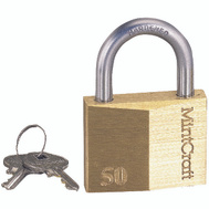 ProSource HD10050 2 Inch Solid Brass Padlock With A Hardened Steel Shackle