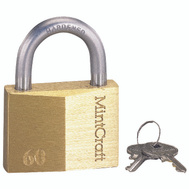 ProSource HD10060 2-1/2 Inch Self Lock Solid Brass Padlock With A Hardened Steel Shackle
