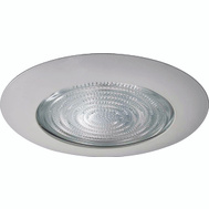 Power Zone TM11 8 Inch White Shower Lighting Trim For 6 Inch Housings