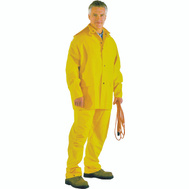 DiamondBack SRS3/111-M Pvc Polyester Rainsuits 3 Piece Heavy Duty Medium