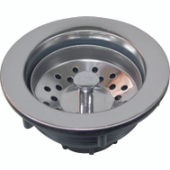 WorldWide Sourcing 80371 Plastic Sink Strainer Stainless Steel Top