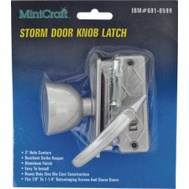 ProSource JF06152 Mintcraft Storm Door Tulip Knob Latch Aluminum