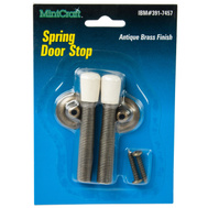 ProSource H62-71003-A Mintcraft Maintenance Grade Spring Door Stop 3 Inch Antique Brass Pack Of 2