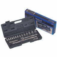 Vulcan TS1019-M Socket Wrench Sets Quick Release 19 Piece 1/2 Inch Maxi Drive