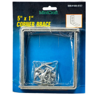 ProSource CB-G05-C4 Mintcraft Corner Brace 5 Inch By 1 Inch Galvanized Pack Of 4