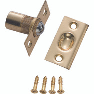 ProSource CB-03PB Mintcraft Solid Brass Ball Catch With Square Corner Strike 2-1/8 By 1-1/16 Inch Polished Brass