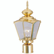 Boston Harbor 4007H2 1 Light Post Coach Lantern Polished Brass