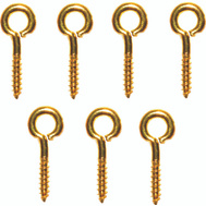 ProSource LR245 Mintcraft #214 Small Solid Brass Screw Eye 7 Pack