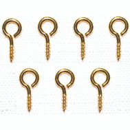 ProSource LR247 Mintcraft Small Eye Screw Eyes 15/32 Inch #217 Solid Brass 7 Pack
