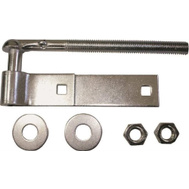 ProSource LR077 Mintcraft 8 Inch Steel Bolt Hook And Strap Hinge Zinc Plated