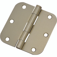ProSource 20347US4 Door Hinge 3-1/2 Inch 5/8 Radius Satin Brass