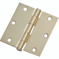 ProSource 20338BBX Door Hinge 3-1/2 Inch Square Corner Bright Brass