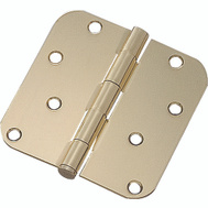 ProSource 20348BBX Mintcraft 4 Inch 5/8 Radius Door Hinge Bright Brass
