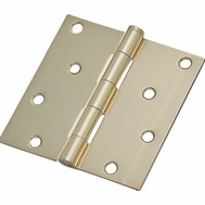 ProSource 20339BBX Door Hinge 4 Inch Square Corner Bright Brass