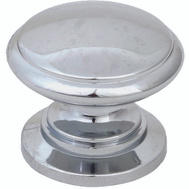ProSource SF603D-31.5CH Mintcraft Traditional Classic 1-1/4 Inch Cabinet Knob With Backplate Polished Chrome