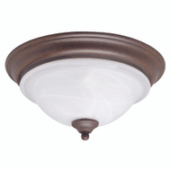 Boston Harbor BRT-ATE1013-RB 3 Light Ceiling Light Fixture Flush Mount Rustic Brown