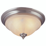 Boston Harbor BRT-ATE1013-SC 3 Light Ceiling Light Fixture Flush Mount Satin Nickel