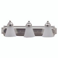 Boston Harbor RF-V-044-BN 3 Light Satin Nickel Vanity Fixture