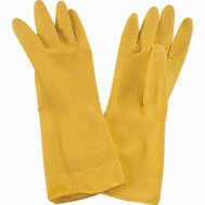 ProSource PVG-12B Yellow Latex Household Gloves Large