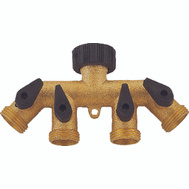 Landscapers Select GB9114A Brass 4 Way Faucet Manifold