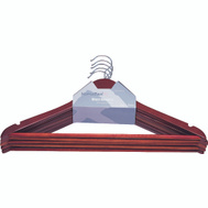 Simple Spaces HEA00040G Clothes Hanger Mahogany 5 Piece