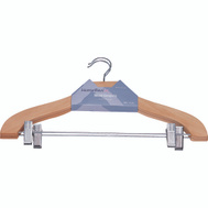 Simple Spaces HEA00043G-N 2 Clip Clothes Hanger Ntrl 2 Piece