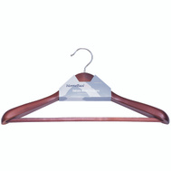 Simple Spaces HEA00046G Hanger Suit Wd Mhgny Nslip Pre