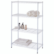 HomeBasix SS-JR0404-WH 4 Tier Shelf White