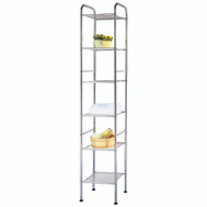 HomeBasix BC45C-CH Chrome Steel Wire Shelf 6 Tier