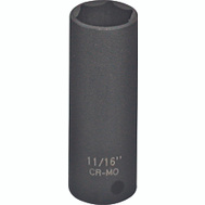 Vulcan MT6580116 11/16 Mm 3/8 Inch Drive 6 Point Impact Socket